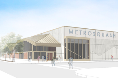 The new MetroSquash facility will feature eight regulation-size courts and four classrooms.