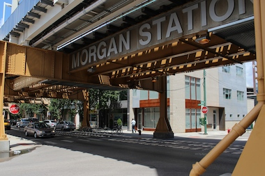 The CTA is touting the Morgan Street station as a catalyst for the growth of businesses in the West Loop.
