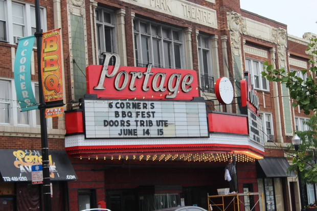 A man who attended a dance party at the Portage Theater Friday night was shot early Saturday.