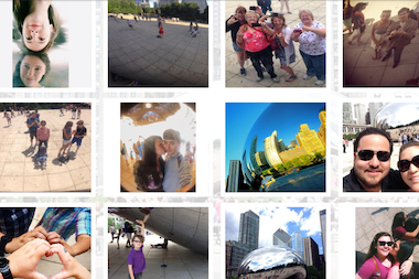 "Walker Sands Digital's ""Seen @ the Bean"" is a digital repository of selfies snapped with the aid of Millennium Park's reflective art piece."