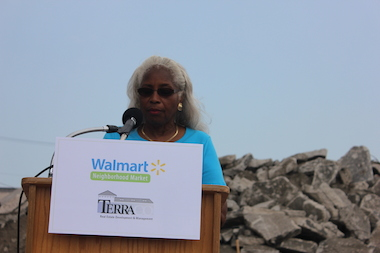Shirley Bryant has lived Auburn Gresham for 33 years and spoke at a July 29, 2014 groundbreaking ceremony for a new Walmart store set to open in 2015.