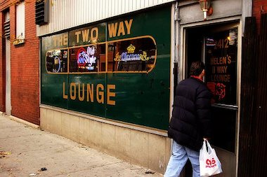 The longstanding Logan Square late night bar Two Way was listed for sale earlier this month. Photo circa 1990, formerly Helen's Two Way Lounge