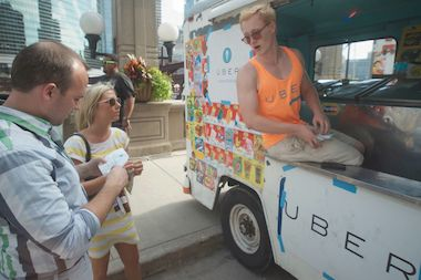 Uber will deliver ice cream to customers in its usual fleet of black cars and user-owned vehicles and in a customized ice cream truck.