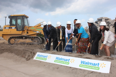 A July 29, 2014 groundbreaking ceremony took place in Auburn Gresham for a new Walmart store set to open in 2015.