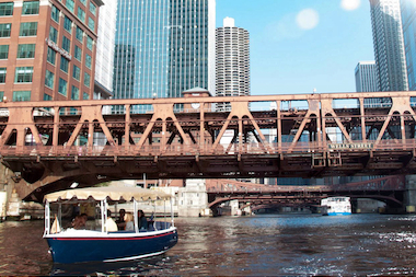 Electric Boat Co. at Marina Towers offers an intimate boating experience. For $150 an hour you can be your own captain on an electric boat ride on the Chicago River with up to 12 pals.