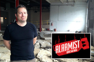 Alarmist Brewing, owned by Gary Gulley of Lincoln Square, hopes to debut in early November.