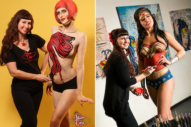 "Robin Barcus-Slonina, a graduate of the School of the Art Institute of Chicago, is a judge and producer of ""Skin Wars,"" a television show debuting Wednesday on the Game Show Network. Here are some of her body paintings for her Las Vegas-based company, Skin City Body Paintings."