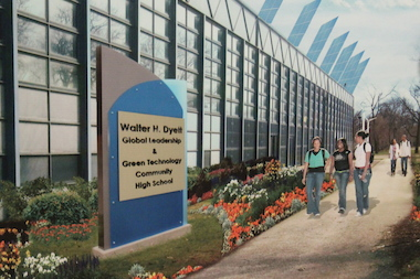Community activists want to make Dyett into a Global Leadership and Green Technology High School.