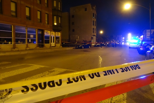 A 32-year-old man was killed and a 21-year-old man was seriously wounded in a shooting outside a Near North Side nightclub Sunday.
