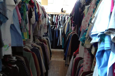 The God's Closet community donation center, where patrons can shop for free clothes and home goods, is at First Lutheran Church of the Trinity, 643 W. 31st St.