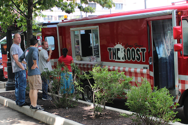 Food trucks once positioned at a stand in front of 600 W. Chicago Ave. are fighting back against the stand's relocation.