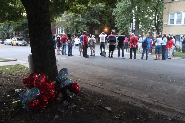 The 4100 block of West Crystal Street gathered Wednesday to remember the 168 people killed since 2007.