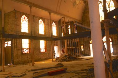 Inside a former church at 925 N. Hoyne St. in Ukrainian Village that will be converted into condos