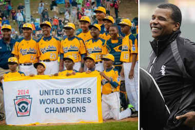 The Jackie Robinson West Little Leaguers showed they have what it takes to be successful in life, White Sox executive vice president Kenny Williams (l.) said.