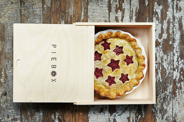 Adrienne Blumthal's wooden carriers keep pies and cakes safe and stylish in transport.