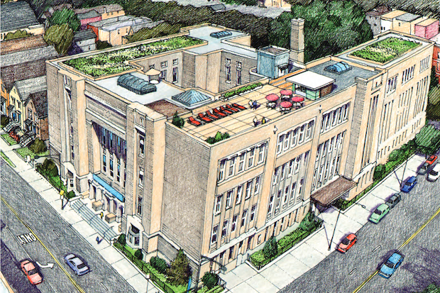 "The proposals     submitted to Ald. Pat O'Connor (40th) for reusing the closed North Side school include a new home for Lakeview's     TimeLine Theater  , a Fresh Farms grocery store, a mixed-income ""live-work"" development targeting entrepreneurs, and a school for autistic students"