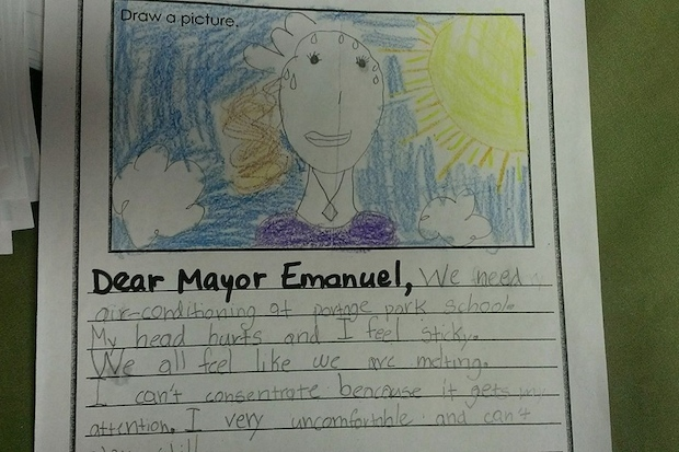 And letter writing campaign begging the mayor to cool down the school