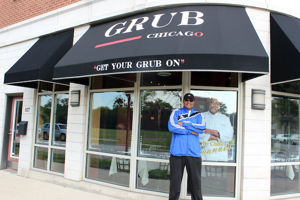 Chef Emanuel Washington has returned to his hometown to open Grub, a soulfood restaurant at 1230 W. Taylor St.
