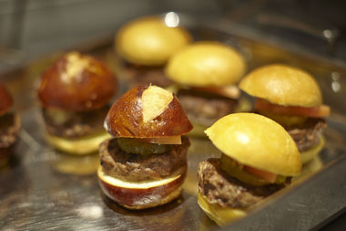Savory and sweet dishes, from bacon sliders to bacon s'mores, will be served at the Great American Bacon Festival on Saturday.