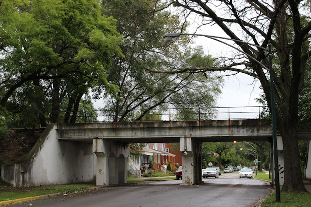 "The city is taking a major step that could result in the creation of a 1.7-mile-long park and trail system on an unused rail line in the neighborhood, similar to "" The 606 "" system being built on the North Side."