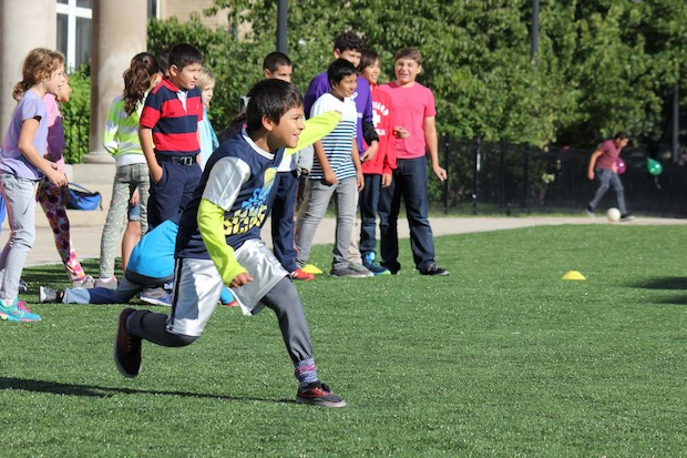 Parents hope the artificial field at 851 W. Waveland Ave. will mean fewer mud stains and more playtime.