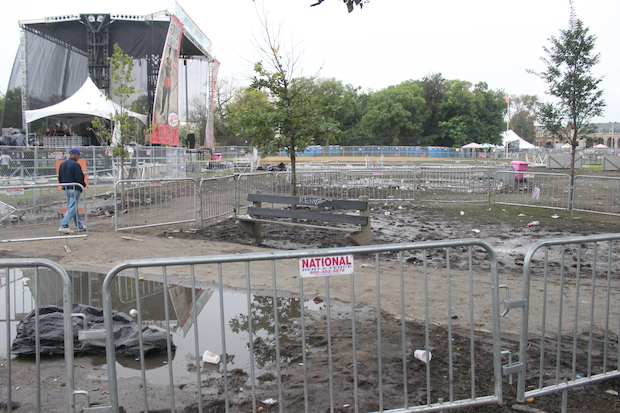 Riot Fest has passed once again, leaving behind odors mentioned from the stage and damage still visible.