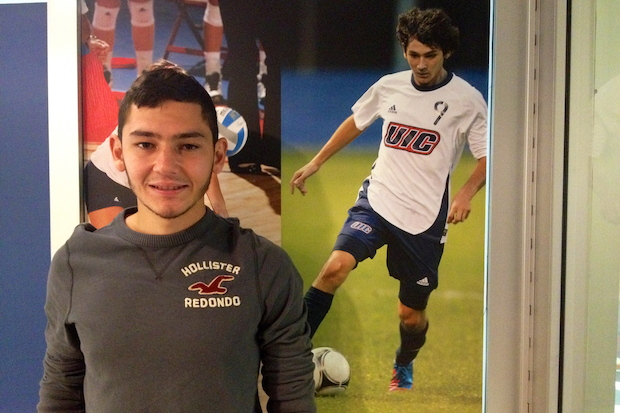 UIC men's soccer player Jesus Torres is a first-generation Mexican American and the first member of his family to attend college.