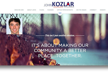 "John Kozlar, candidate for the 11th Ward aldermanic seat, has launched his campaign website with a tagline of ""Together."""