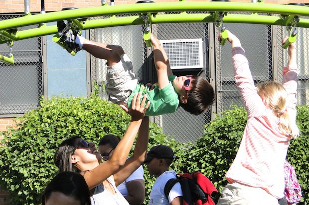 Three years in the making, a new playground opened at LaSalle II Magnet School in Wicker Park. A ribbon cutting ceremony was held on Sept. 19.