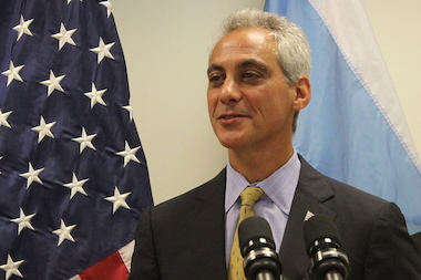 Mayor Rahm Emanuel seized on the good news about national bike rankings.