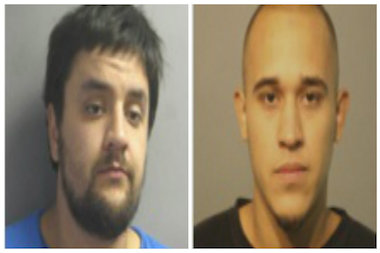 Zachary Stinson, l., and Adam Garcia have been arrested in connection with a Sept. 10 murder.