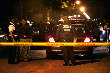 Police stepped up patrols near Belmont and Central avenues in Portage Park after a shooting Sunday night.