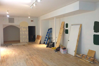 Picture books here. RoscoeBooks is aiming for a November opening, owner says, and construction on the storefront has begun.