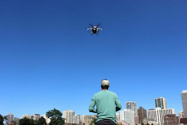 A growing number of Chicago-area residents are using drones to capture images and footage of the city.