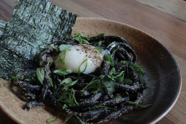 Yusho opened Friday with squid-ink pasta being among the favorites among diners.