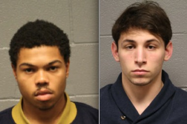 Chicago rapper Taylor Bennett, 18, and Jake Kalmin, 21, are charged with aggravated battery for beating a man who accidentally stepped on Bennett's foot, prosecutors.