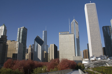 Chicago Loop skyline.