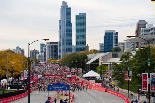 Chicago marathon date in Melbourne