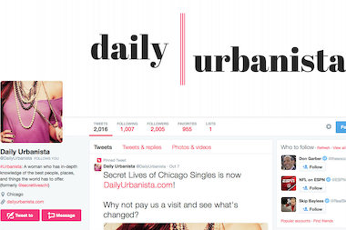 Daily Urbanista's Twitter page has more than 2,000 followers.