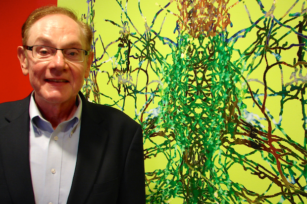 The BRAIN-ART Initiative runs through Oct. 26 at the Beverly Arts Center. From there, the exhibit that will travel to the University of Chicago. Dr. Audrius V. Plioplys, a retired neurologist and artist, sponsored the exhibit and also has a pair of his digital paintings included in the show.