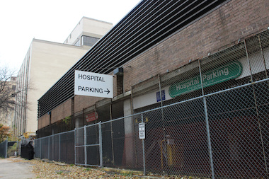 The Edgewater Medical Center garage was sold and is slated to be demolished.