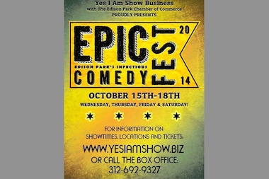The four-day festival — formerly known as the Edison Park Comedy Fest — will take place Oct. 15-18.