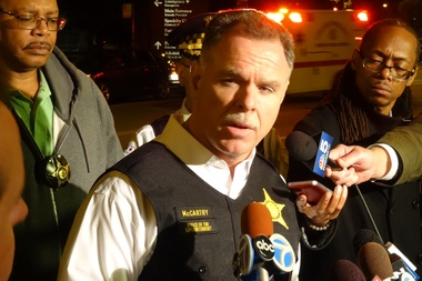 Supt. Garry McCarthy blames lax gun laws for the shooting of 7-year-old Amari Brown, who police believe took a bullet that was meant for his father.