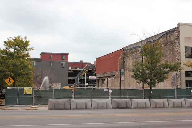 Novak Construction Co. has begun demolition at 3201 N. Ashland Ave., the former home of LaSalle Bank.