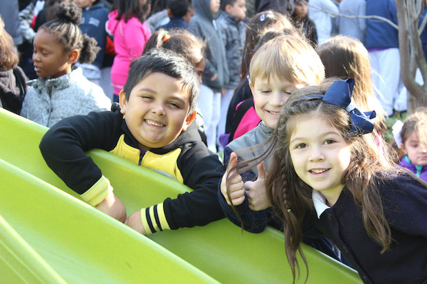 McPherson Elementary's new playground replaces formerly flood-prone area.