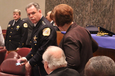 Police Supt. Garry McCarthy prepares to testify in City Council budget hearings.