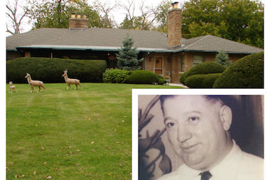 "George ""Babe"" Tuffanelli once ran Al Capone's gambling and bootlegging operations in the south suburbs. His Morgan Park home at 11860 S. Bell Ave. is for sale. The listing price of the expansive, ranch house is $525,000."