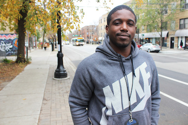 Brandon Murray, 30, served three years for drug possession. Now he leads the Peace Angels in Rogers Park.