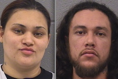 Maria Baez (l.) and Edwin Torres, both of the 4300 block of North Winchester Boulevard, got caught breaking into a car that is part of Mayor Rahm Emanuel's security detail, prosecutors said. �