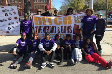 "There were 900 registered runners for Sunday's ""Ditch the Weight and Guns 5K Run and Walk"" in Englewood."
